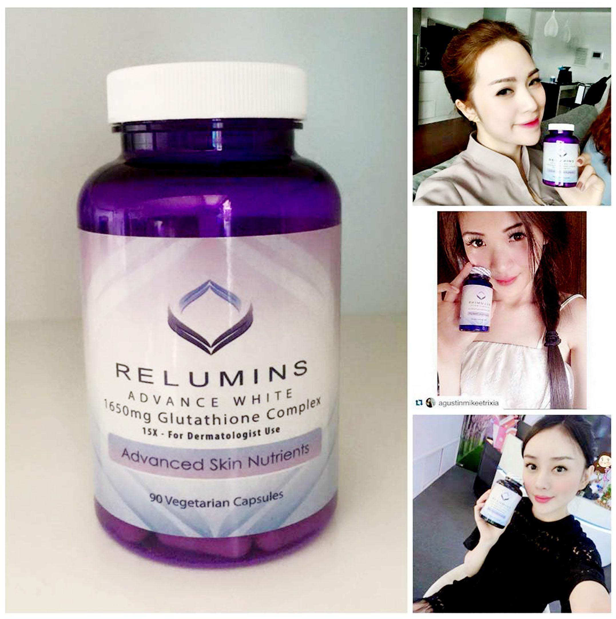 Viên uống trắng da Relumins Advance White 1650 mg Review