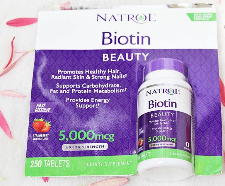 Viên ngậm Natrol Biotin Beauty 5000mcg Extra Strength Reviews