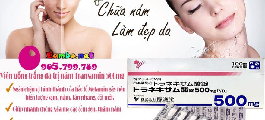 Thuoc-Uong-Trang-Da-Tri-Nam-Transamin-500mg-cong-dung-eambo1