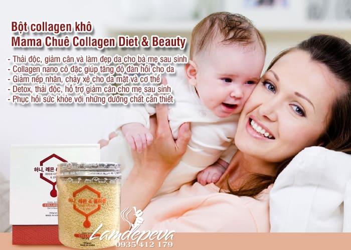 Bột collagen khô Mama Chuê cô đặc giảm cân, đẹp da cho mẹ bỉm sữa 2
