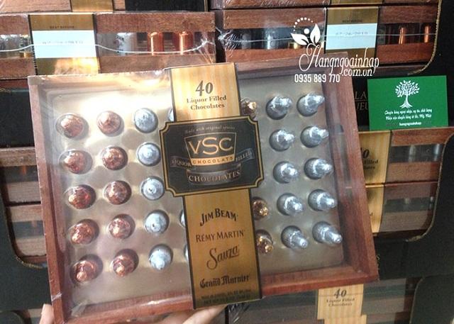 Socola nhân rượu hộp gỗ VSC 40 chai - Vị ngon độc đáo 1