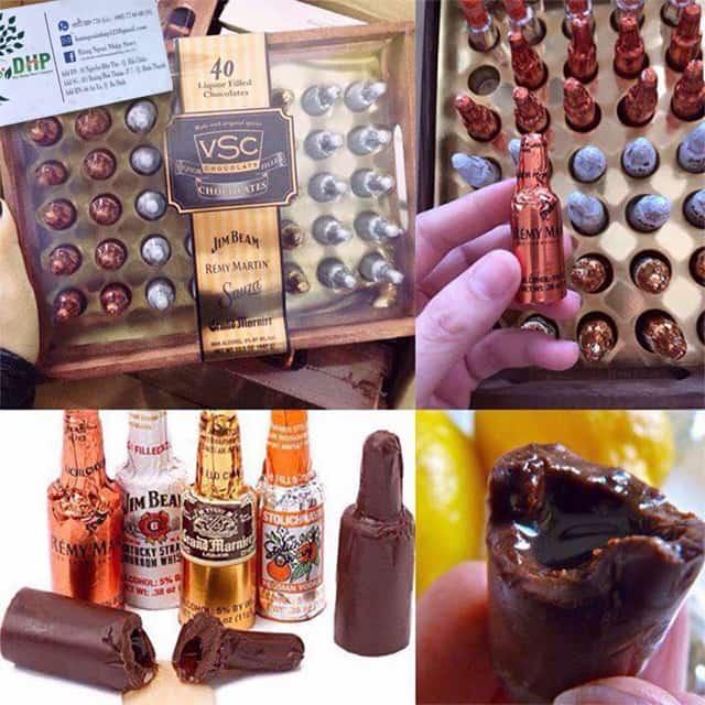 Socola nhân rượu hộp gỗ VSC 40 chai - Vị ngon độc đáo 3