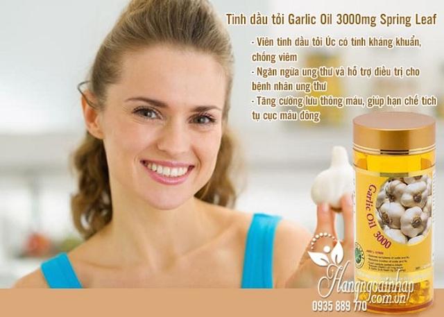 Tinh dầu tỏi Garlic Oil 3000mg Spring Leaf chính hãng, giá đại lý 3