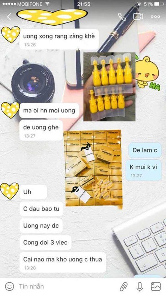 Nghệ Nano Curcumin Gold Golden Gift Hàn Quốc chính hãng 4