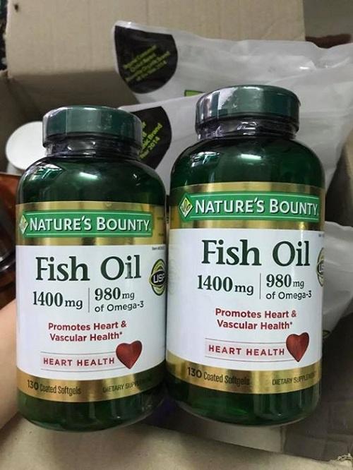 Dầu cá Fish Oil 1400mg Natures Bounty 130 viên của Mỹ 1