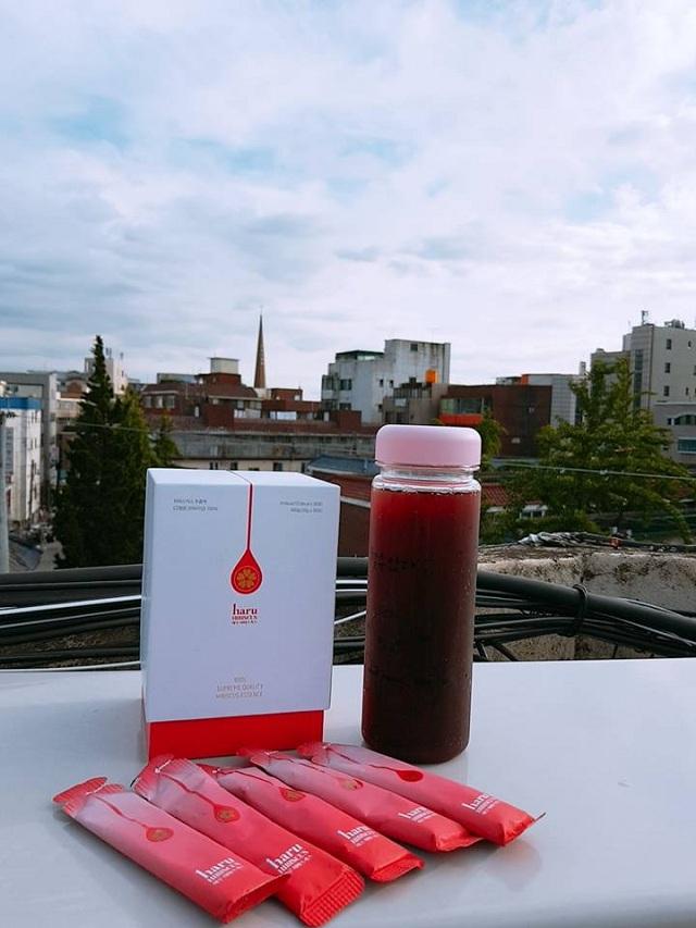Nước uống giảm cân Haru Hibiscus Hàn Quốc, trà hoa dâm bụt 1