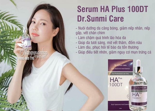 Serum HA Plus 100DT Dr. Sunmi Care 100ml của Hàn Quốc 9
