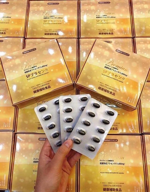 Nhau thai lên men Premium SP 11000mg cao cấp Nhật Bản 1
