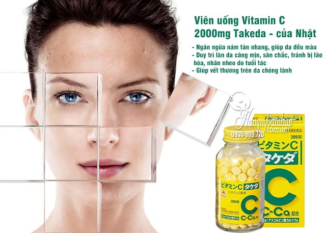 Viên uống Vitamin C 2000mg Takeda trị nám của Nhật Bản, 300 viên 3