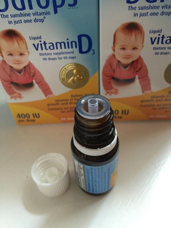 Baby Ddrops Vitamin D3 của Mỹ 90 giọt cho trẻ sơ sinh 12