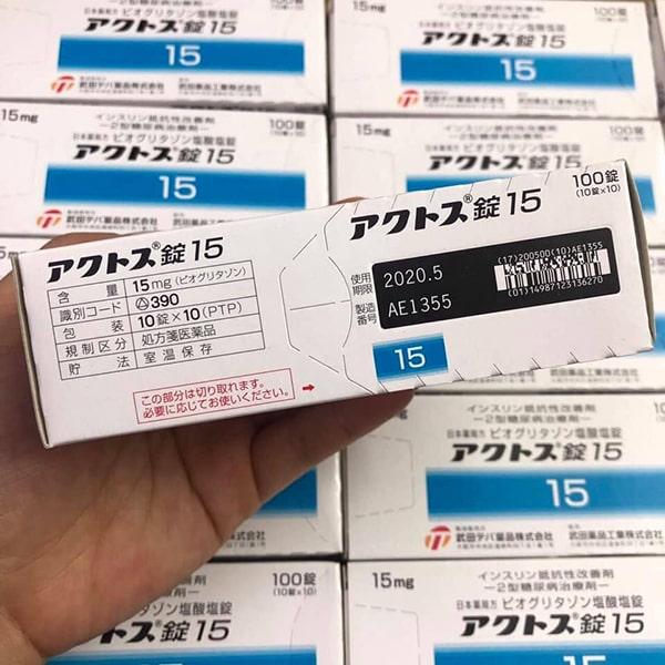 Thuốc trị tiểu đường actos của Nhật mua ở đâu? Giá bao nhiêu 1