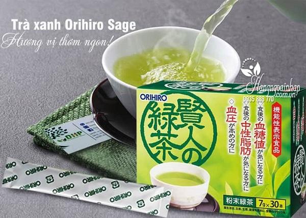 Trà xanh giảm mỡ máu Orihiro Sage 30 gói chính hãng 0