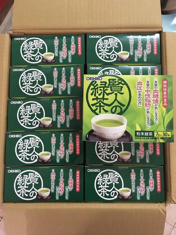 Trà xanh giảm mỡ máu Orihiro Sage 30 gói chính hãng 1