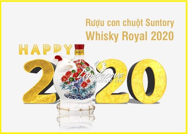 Rượu con chuột Nhật Bản Suntory Whisky Royal Tết 2020 1