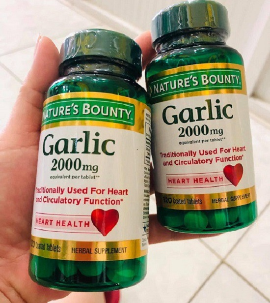 Garlic 2000mg Heart Health Nature's Bounty tinh dầu tỏi Mỹ 1