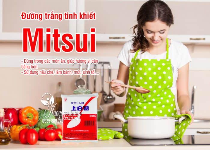Đường trắng Mitsui 1kg hình muỗng đỏ của Nhật Bản 2