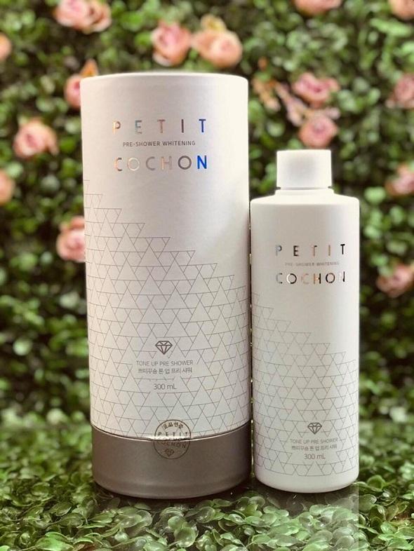 Sữa tắm trắng Peptide Cochon review từ khách hàng 1