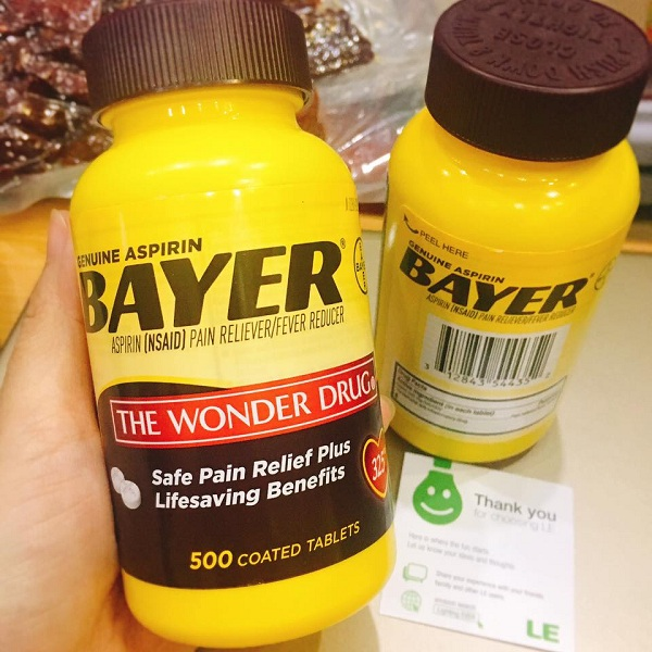 Thuốc Genuine Aspirin Bayer 325mg 500 viên chính hãng 1