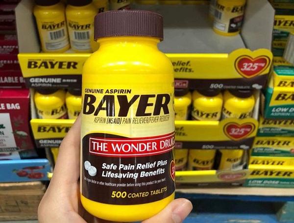 Thuốc Genuine Aspirin Bayer 325mg 500 viên chính hãng 6