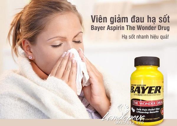 Thuốc Genuine Aspirin Bayer 325mg 500 viên chính hãng 2