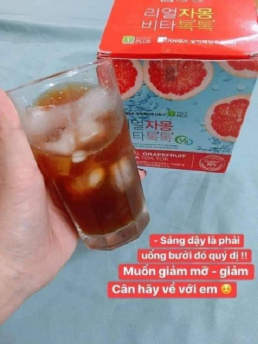 Giảm cân bưởi đỏ Sanga Real Grapefruit Vita Tok Tok 2