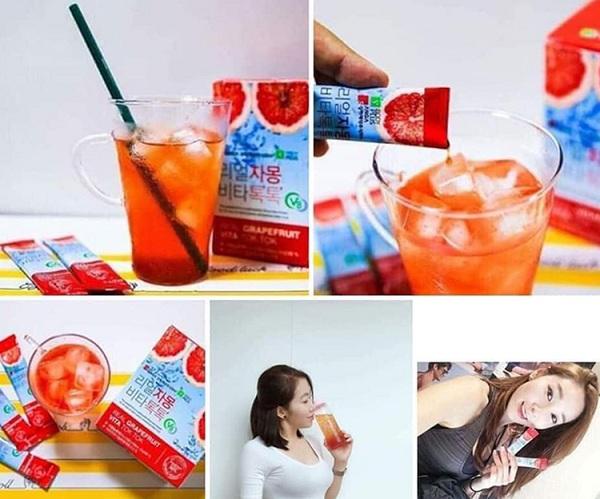 Giảm cân bưởi đỏ Sanga Real Grapefruit Vita Tok Tok 1