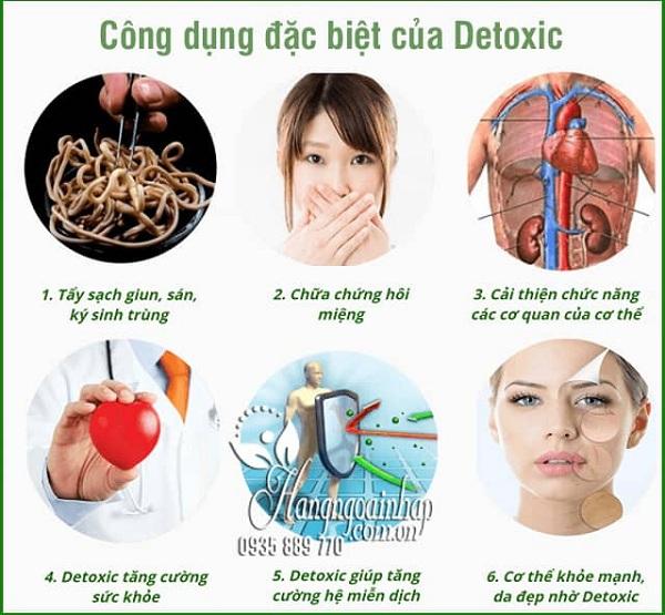 Thuốc Detoxic diệt ký sinh trùng - Mua 2 hộp tặng 1 hộp 3