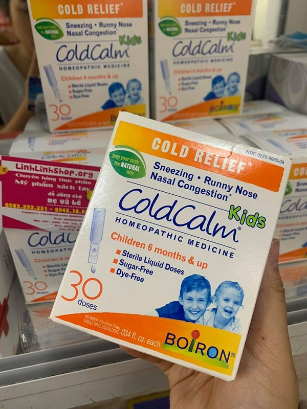 Thuốc ho cảm ColdCalm Boiron cho trẻ em, bán chạy tại Mỹ 2