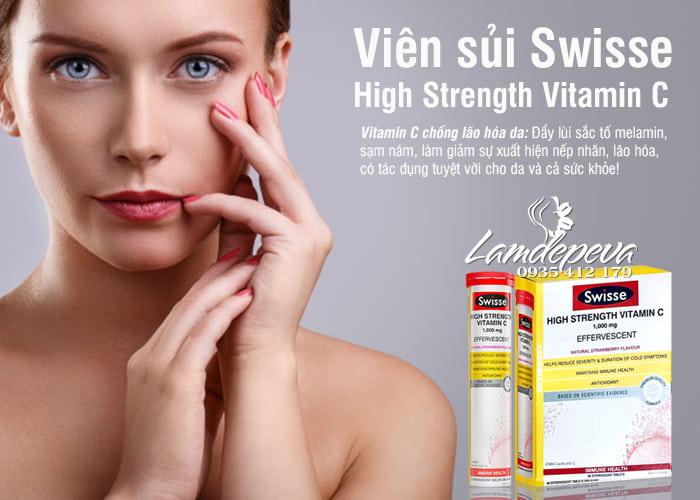 Vitamin C 1000mg viên sủi Swisse High Strength của Úc 4