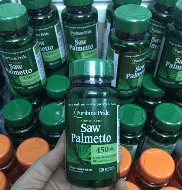 Viên uống hỗ trợ tuyến tiền liệt và tiết niệu Saw Palmetto 450mg 5