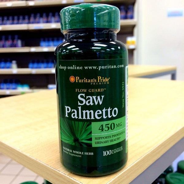 Viên uống hỗ trợ tuyến tiền liệt và tiết niệu Saw Palmetto 450mg 1