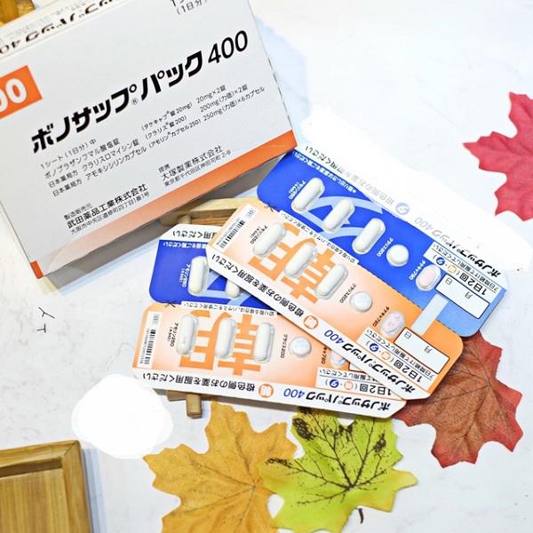 Thuốc trị vi khuẩn HP của Nhật Bản Lansup 400 Takeda, 1
