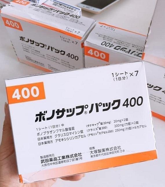 Thuốc trị vi khuẩn HP của Nhật Bản Lansup 400 Takeda, 2