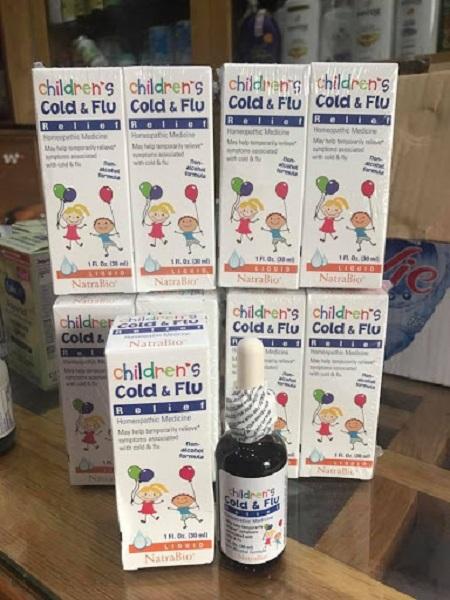 Siro trị cảm cúm cho trẻ sơ sinh Cold & Flu Natrabio Mỹ 5
