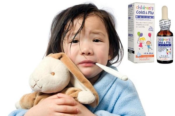 Siro trị cảm cúm cho trẻ sơ sinh Cold & Flu Natrabio Mỹ 4
