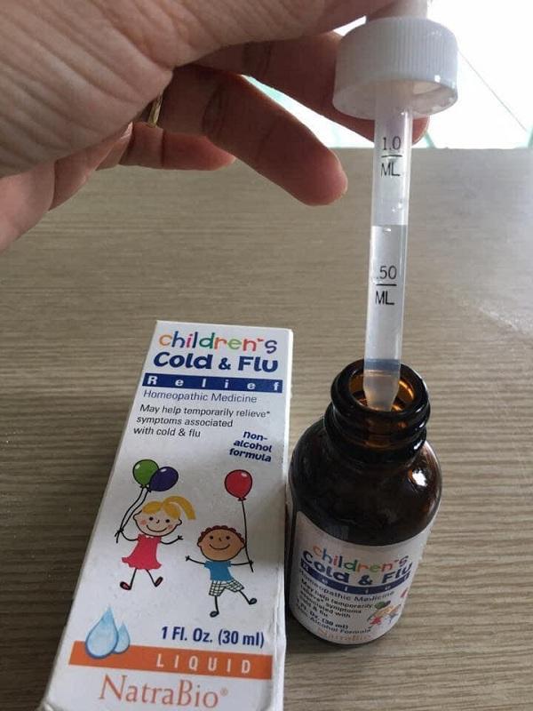 Siro trị cảm cúm cho trẻ sơ sinh Cold & Flu Natrabio Mỹ 2