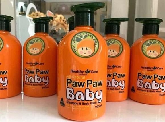 Sữa tắm đu đủ Paw Paw Baby Healthy Care 500ml của Úc 7