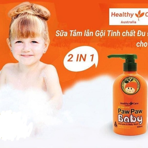 Sữa tắm đu đủ Paw Paw Baby Healthy Care 500ml của Úc 4