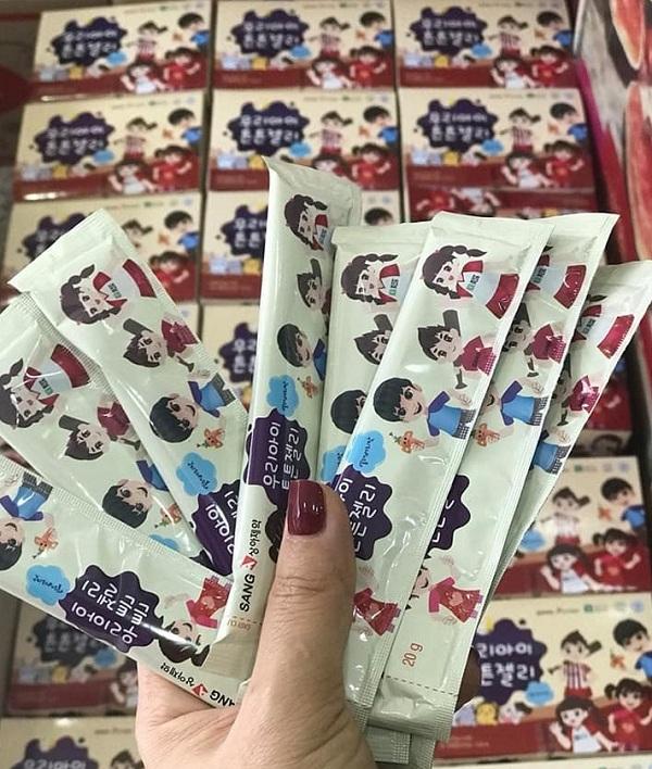 Thạch hồng sâm cho trẻ em Sanga Hàn Quốc, cho bé biếng ăn 6
