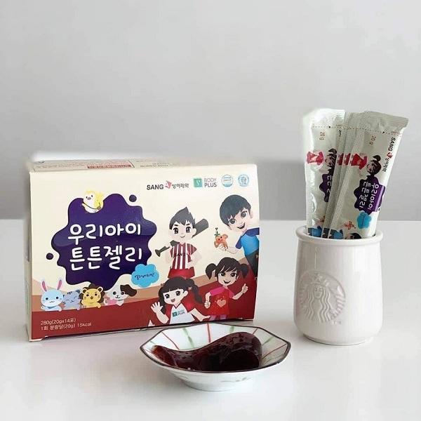 Thạch hồng sâm cho trẻ em Sanga Hàn Quốc, cho bé biếng ăn 1