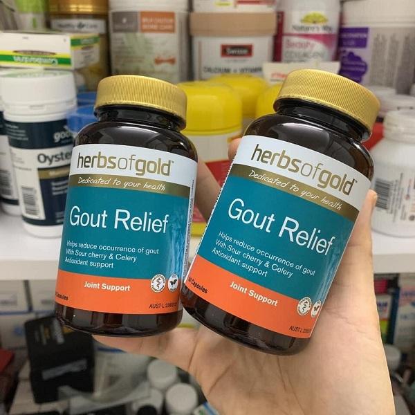 Viên uống hỗ trợ trị gút Gout Relief Herbs Of Gold 60 viên 4