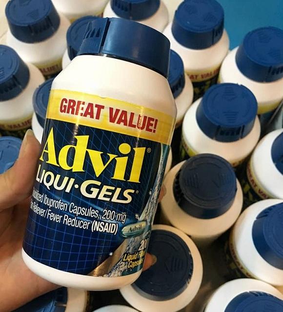 Advil Liqui Gels 200 viên của Mỹ - Thuốc giảm đau số 1 hiện nay 3