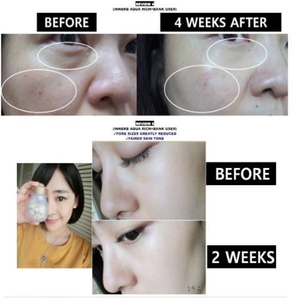 Viên uống cấp nước Aqua Rich Innerb 56 viên của Hàn Quốc 1