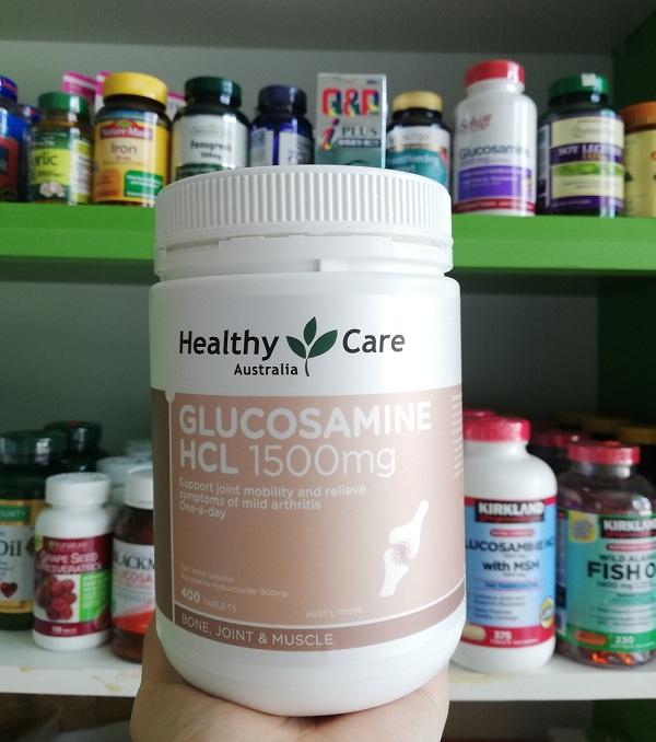 Viên uống Glucosamine HCL 1500mg Healthy Care của Úc 1