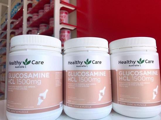 Viên uống Glucosamine HCL 1500mg Healthy Care của Úc 9