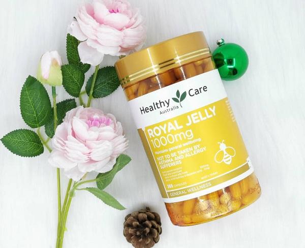 Sữa ong chúa Royal Jelly 1000mg Healthy Care của Úc mẫu mới 1