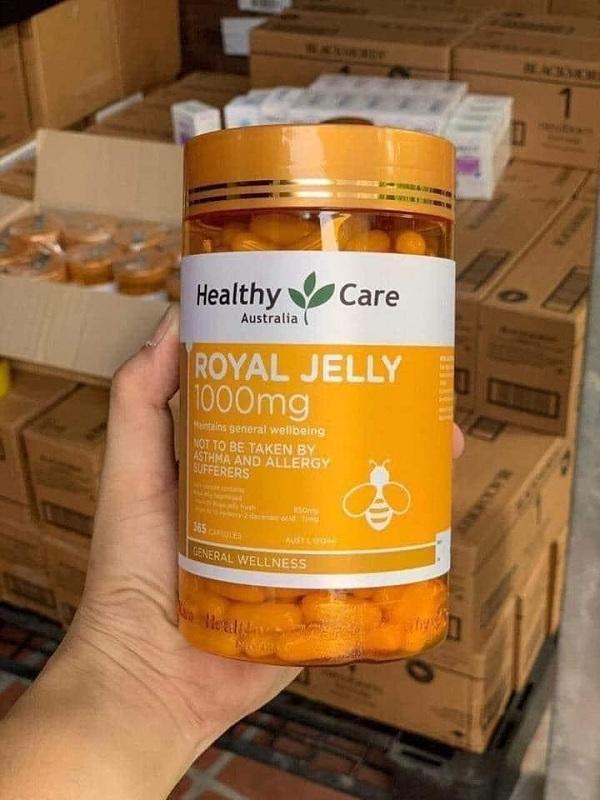 Sữa ong chúa Royal Jelly 1000mg Healthy Care của Úc mẫu mới 9