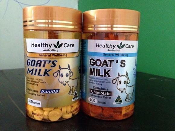 Sữa dê cô đặc dạng viên Goat Milk Healthy Care Úc 300 viên 3