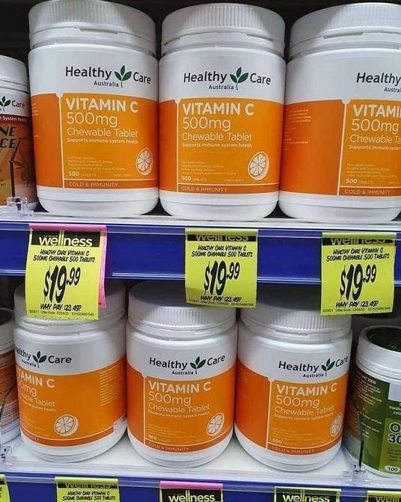 Vitamin C Healthy Care mẫu mới 500 viên - Dạng viên ngậm 8