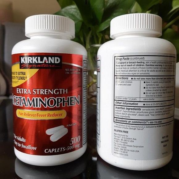 Thuốc Extra Strength Acetaminophen 500 mg giảm đau nhanh 4